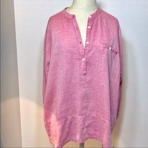 Lila P pink cotton tunic.